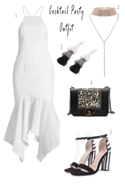 Cute White Cocktail Dresses And Accessories   Just Some Cute Things I Found At ZAFUL   Christmas Party Dresses   White Cocktail Dresses   Travel Beauty Blog