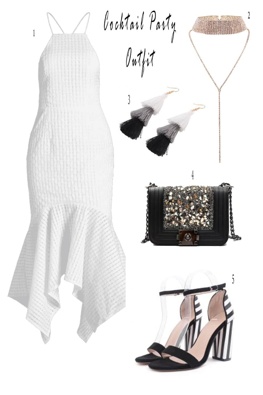 Cute White Cocktail Dresses And Accessories | Just Some Cute Things I Found At ZAFUL | Christmas Party Dresses | White Cocktail Dresses | Travel Beauty Blog