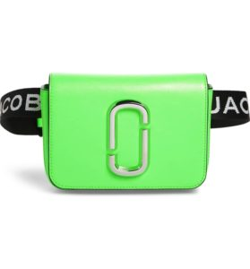 Marc Jacobs Convertible Crossbody Belt Bag Neon Green | Nordstrom Winter Sale | Travel Beauty Blog
