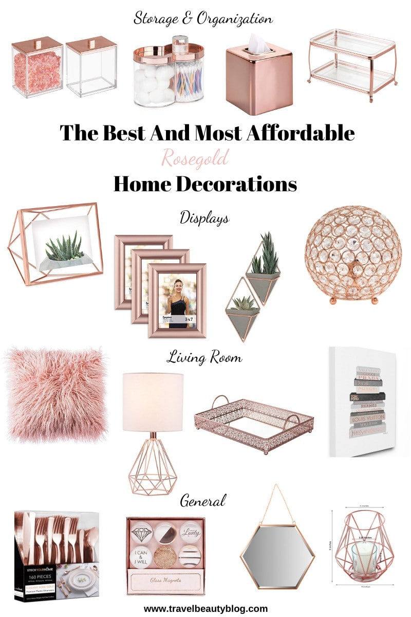 The Best Affordable Rosegold Home Decorations You Need 2020 | Travel Beauty Blog