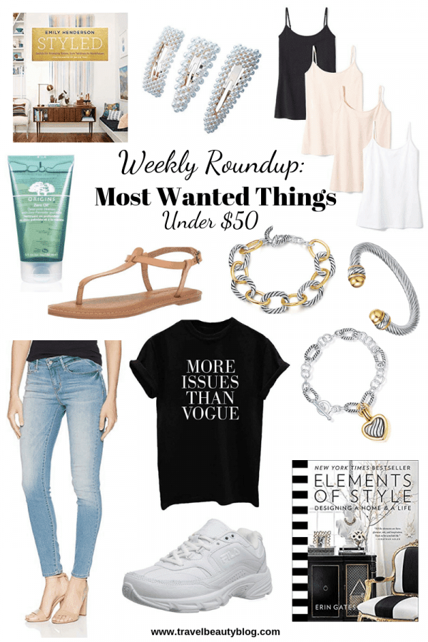 Roundup Of The Most Wanted Things Under $50 | Travel Beauty Blog | Great Finds | Weekly Roundup | Great Finds | Shopping | Sale | Shopping
