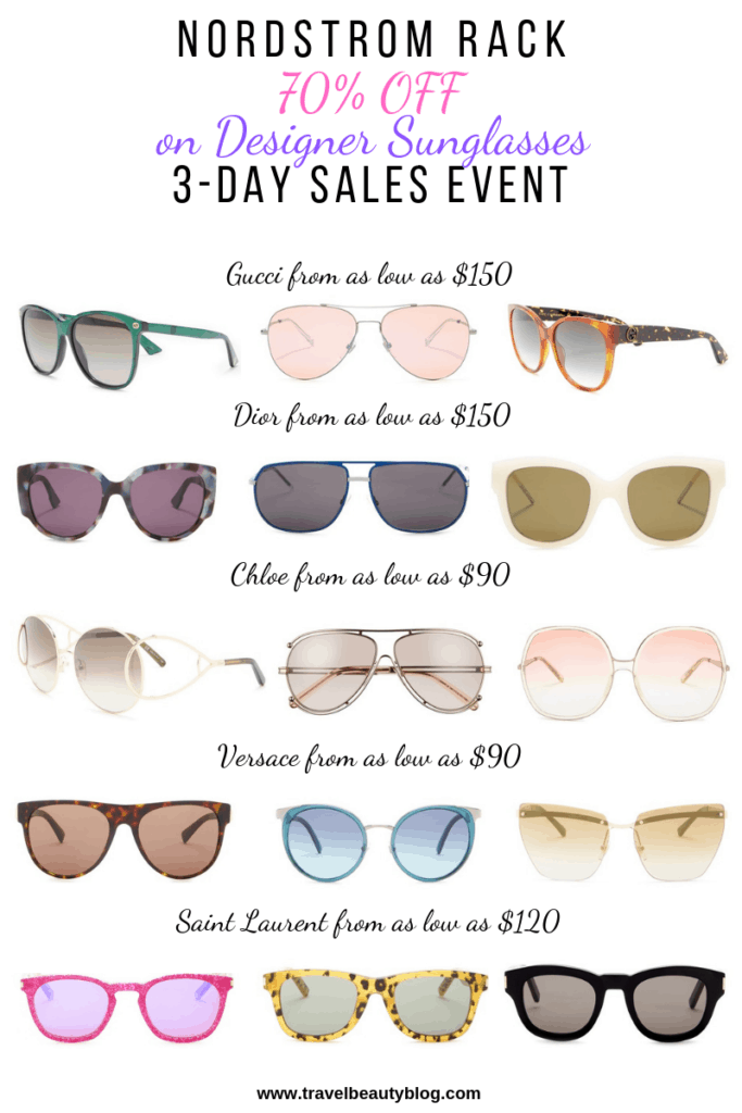 Limited Time Designer Sunglasses Sale Now At Nordstrom Rack | Travel Beauty Blog | Nordstrom Rack Sale | Shopping | Sunglasses Sale
