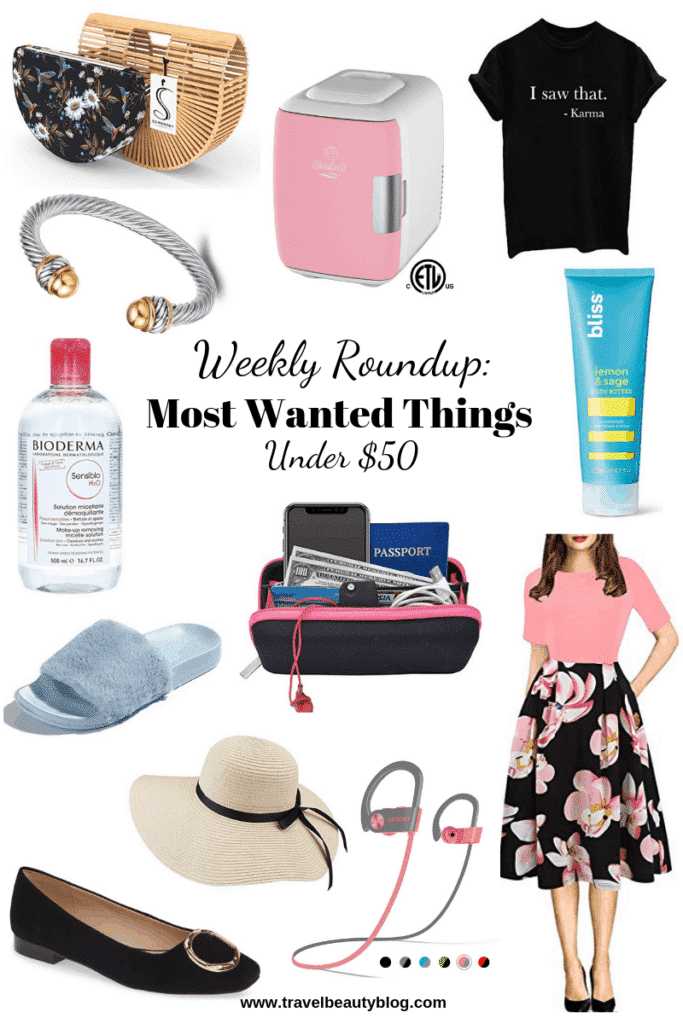 Roundup Of The Most Wanted Things Under $50 | Travel Beauty Blog | Shopping | Sale | Amazon Finds | Weekly Roundup