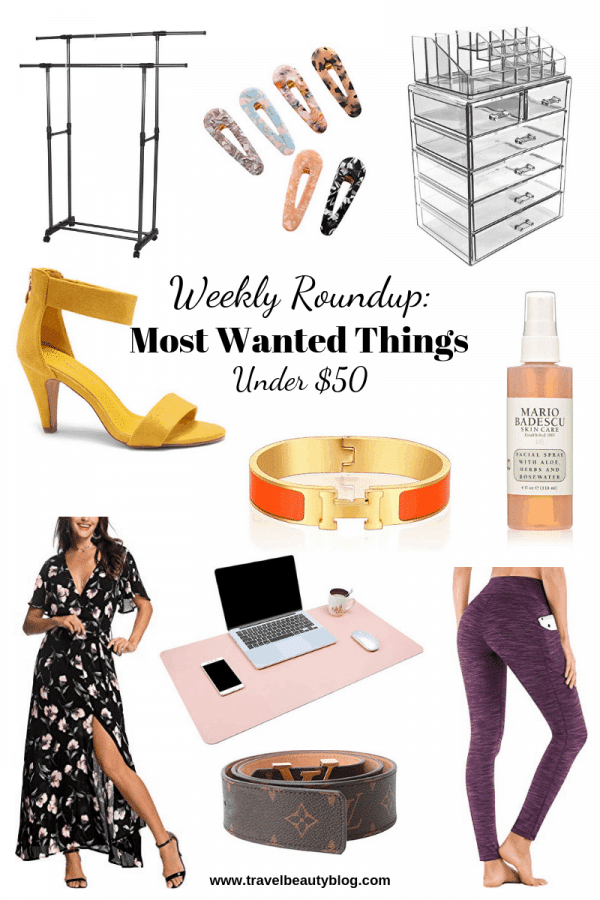 Roundup Of The Most Wanted Things Under $50 | Travel Beauty Blog | Weekly Roundup | Amazon Favorites | Shopping | Sale