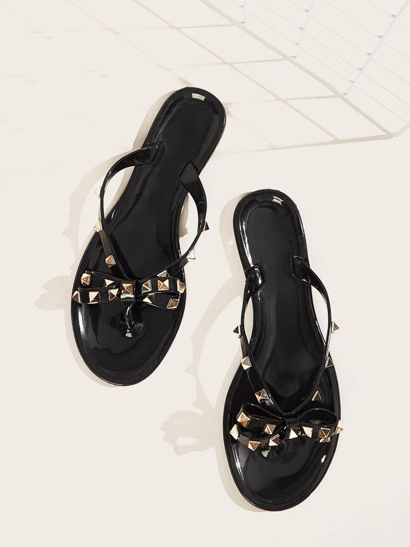 Valentino Studded Bowtie Flip Flop Dupe Sandals