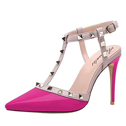 Valentino Dupes Pink Pointy Toe Studded High Heels | Travel Beauty Blog