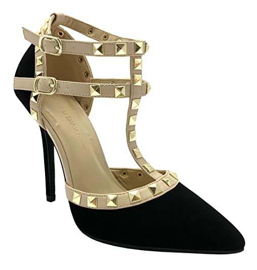Valentino Dupes Pointy Toe Ankle T-Strap Studded Heels | Travel Beauty Blog