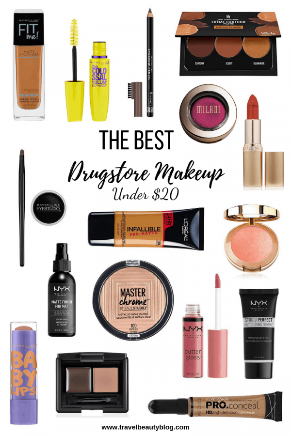 An Outline Of The Best Drugstore Makeup All Under $20 | Drugstore Makeup | Travel Beauty Blog