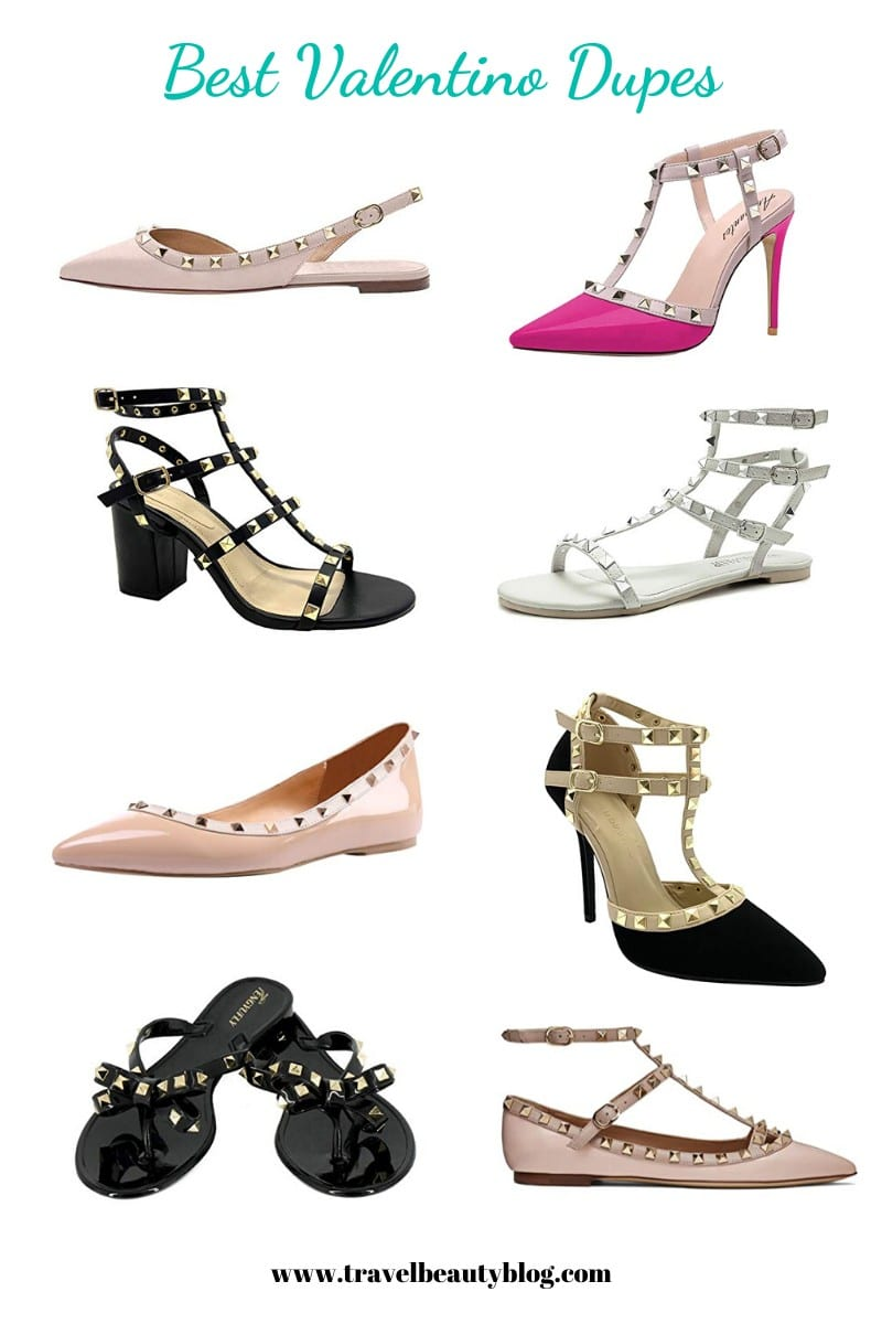 Roundup Of The Best Affordable Valentino Dupes | Designer Dupes On Amazon | Valentino Dupes | Designer Dupe Shoes | Travel Beauty Blog