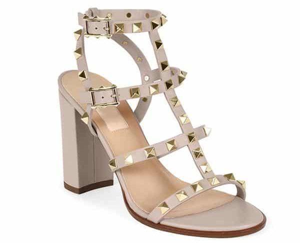 Valentino Rockstud Rivets T-strap Sandal Dupe