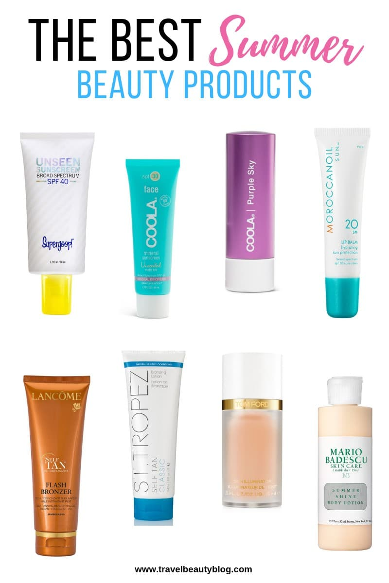 The Ultimate Guide To The Best Summer Beauty Products | Travel Beauty Blog