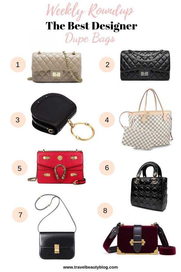 One of the main benefits of buying designer dupe bags is that you can get the luxury look for less. No need to spend thousands of dollars on a single item unless you really want to. Of course, the designer dupe can't and won't ever compare to the real thing. But as I mentioned in my Valentino Dupes post, there are pros and cons of buying designer dupe items. #designerdupe #designerdupebags #dupebags #amazondupes #dupes