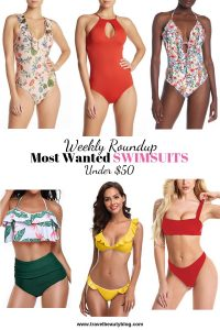 Weekly Roundup Of The Most Wanted Swimsuits. All these swimsuits are perfect to take with you on your summer vacation #swimsuits #swimsuitsforall #summer2019 #swimwear