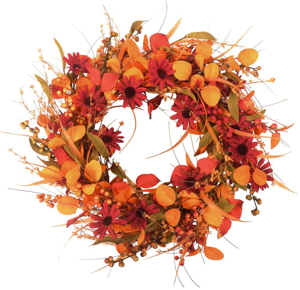 Front Door Wreath Fall Decor