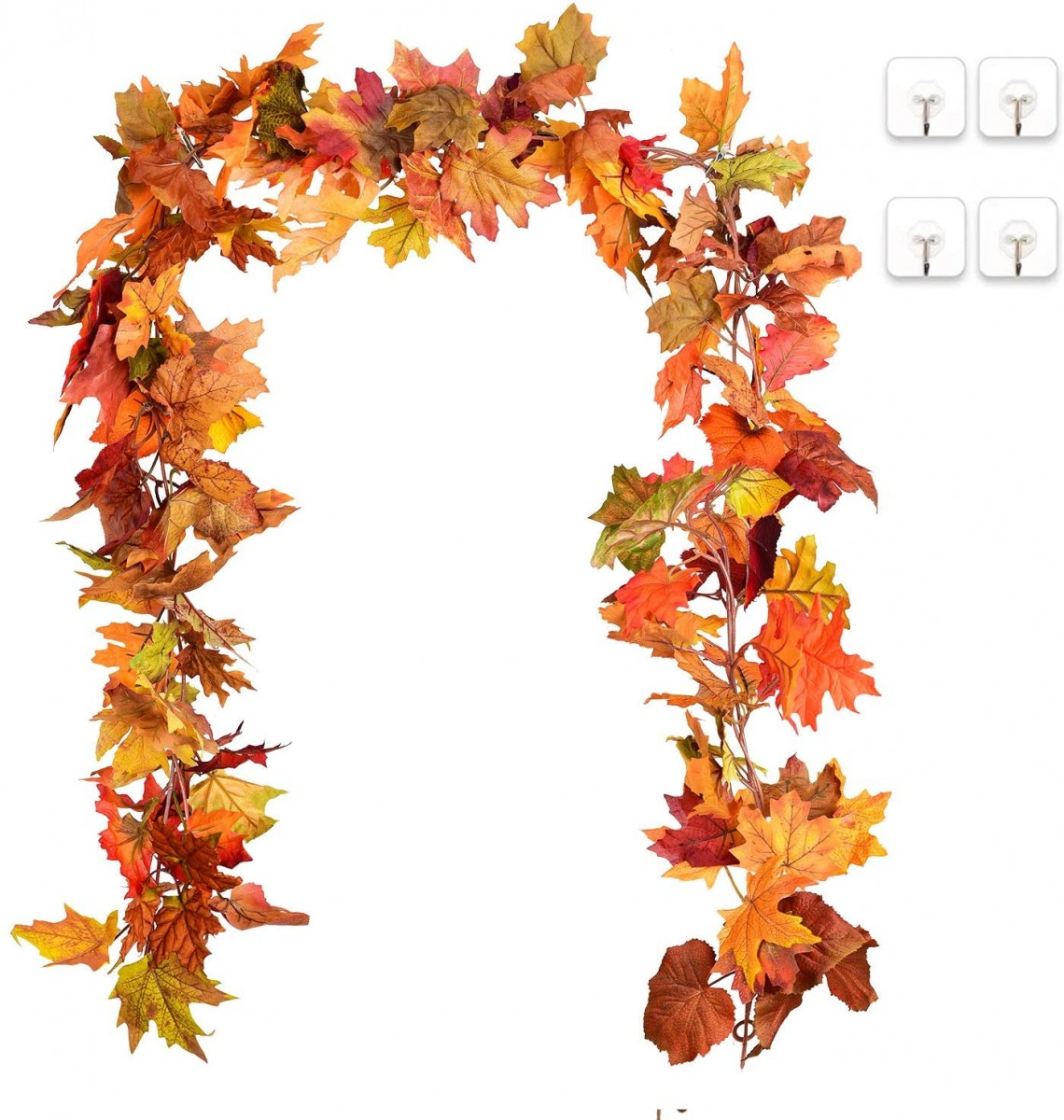 2 Pack Fall Garland Maple Leaf Hanging Vine Garland