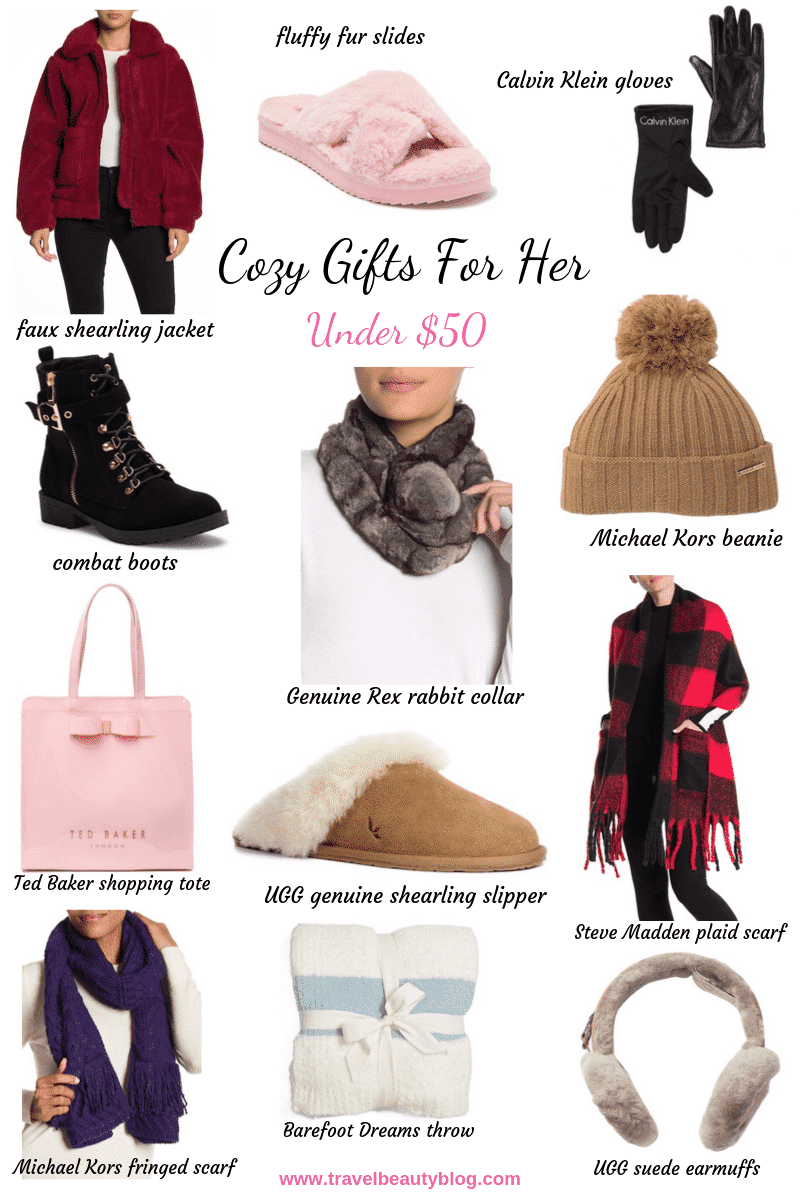 The Most Beautiful Cozy Gifts For Her Under $50 | Travel Beauty Blog