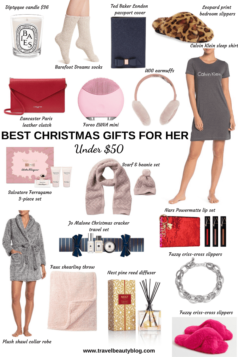 The Best Gifts For Her Under 50 | Gifts For Her Under $50 | Travel Beauty Blog