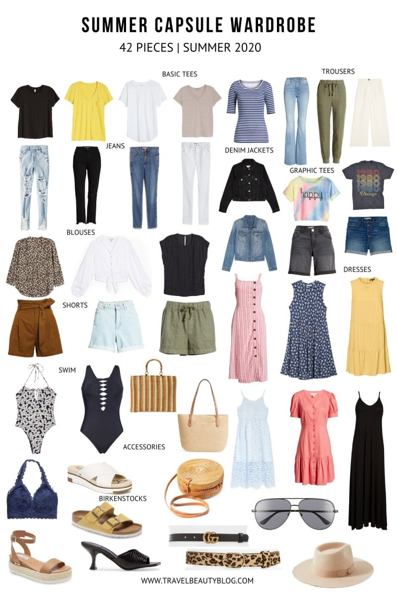 How To Make The Best Summer Capsule Wardrobe Easily | Travel Beauty Blog