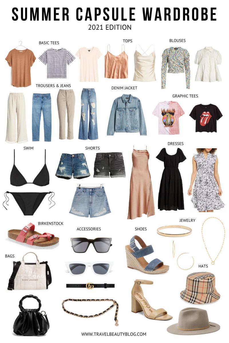 summer capsule wardrobe 2021 - travel beauty blog