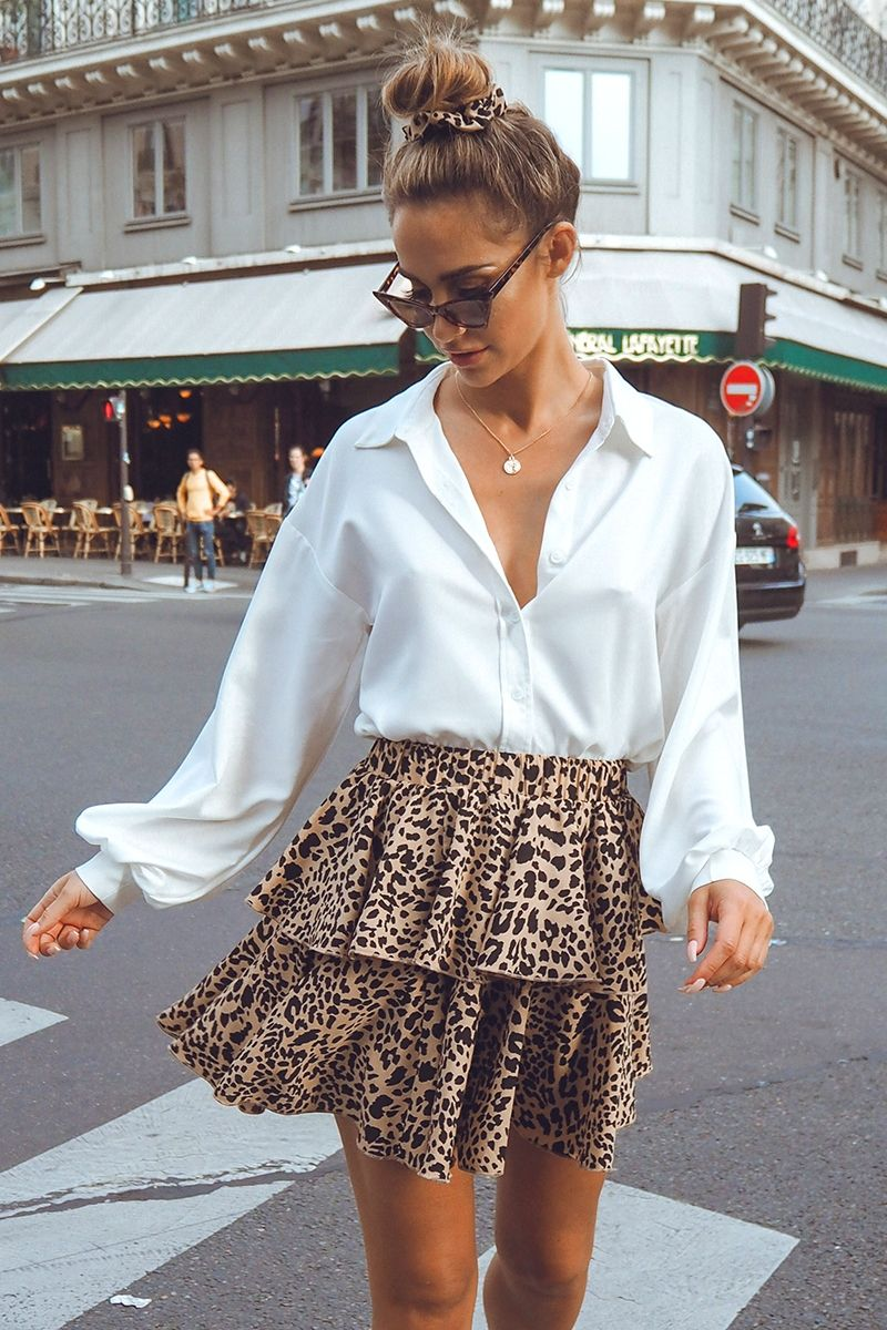 How To Make A Leopard Print Skirt Outfit Look Chic | Leopard Print Midi Pleated Skirt | Travel Beauty Blog
