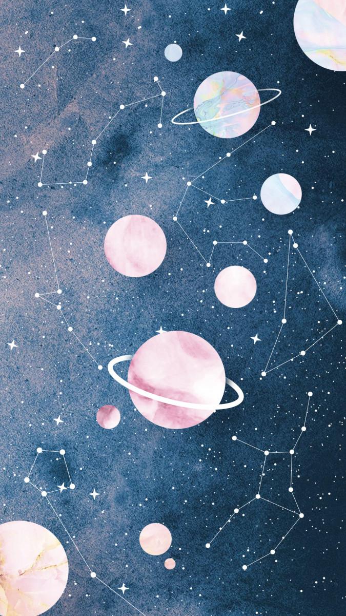 Constellations cute wallpaper