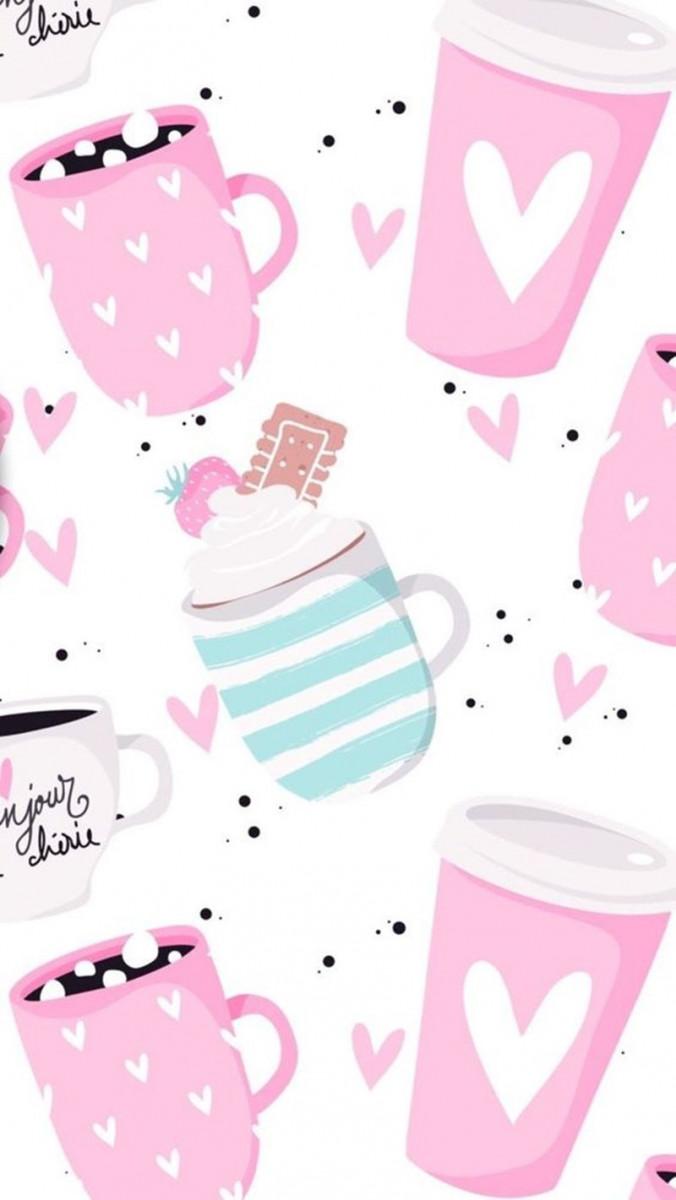 coffee mugs pink girly cute wallpapers