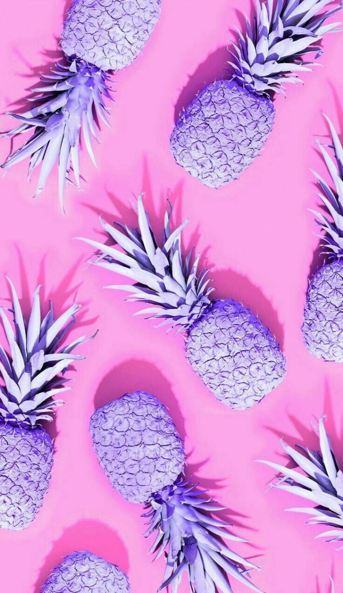 cute wallpapers purple pineapples