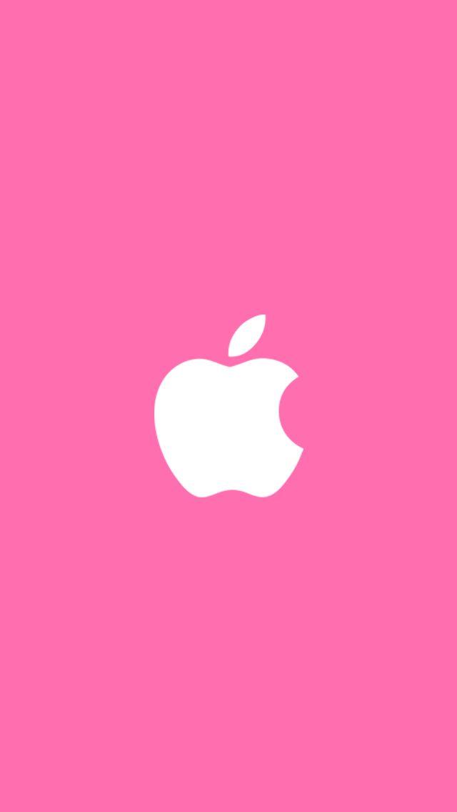 iPhone apple cute girl Wallpapers pink