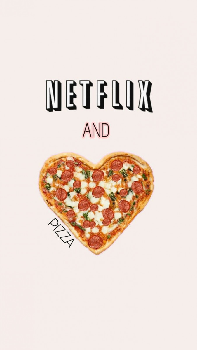 netflix and pizza cute wallpapers