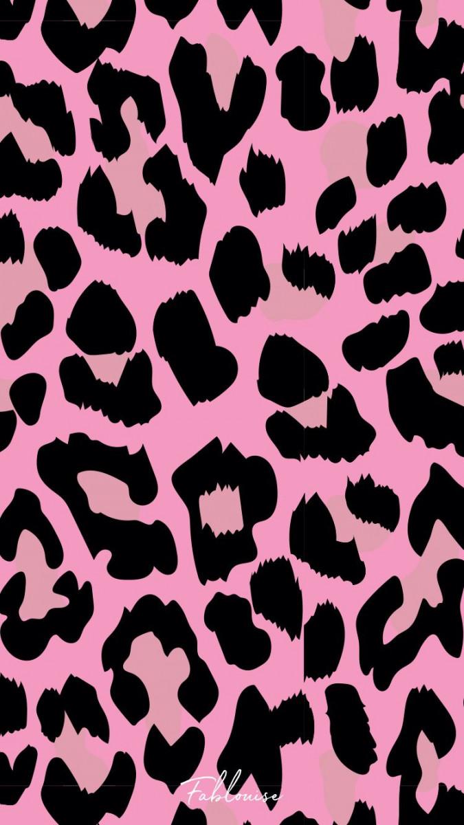 pink animal print cute wallpapers