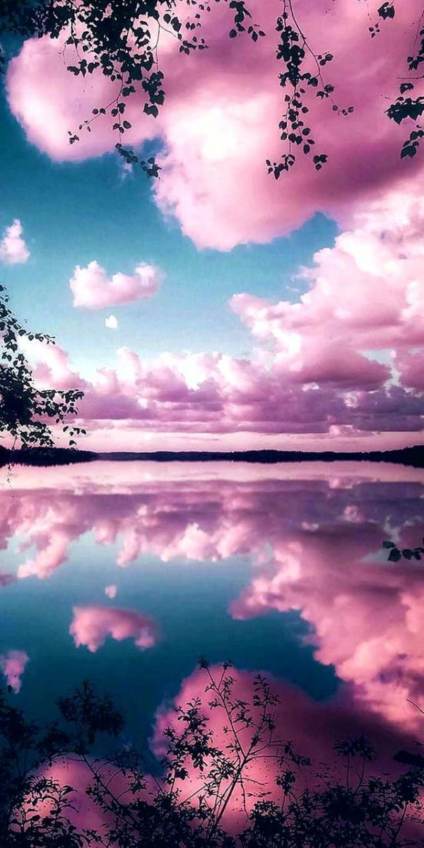 pink clouds cute wallpapers