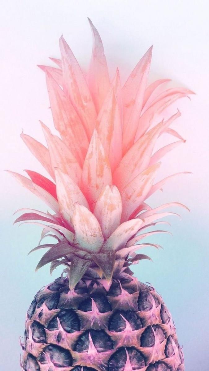 pink pineapple cute wallpapers