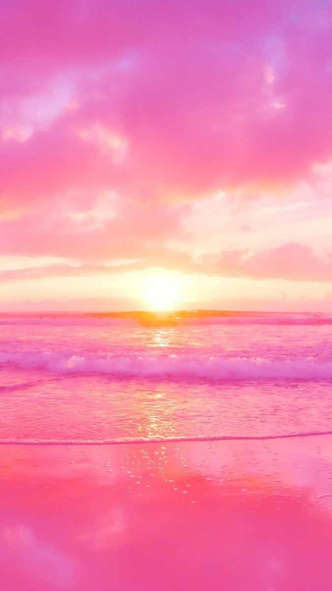 pink sunset cute wallpapers