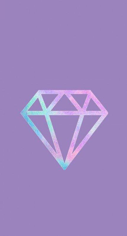 purple diamond cute wallpapers