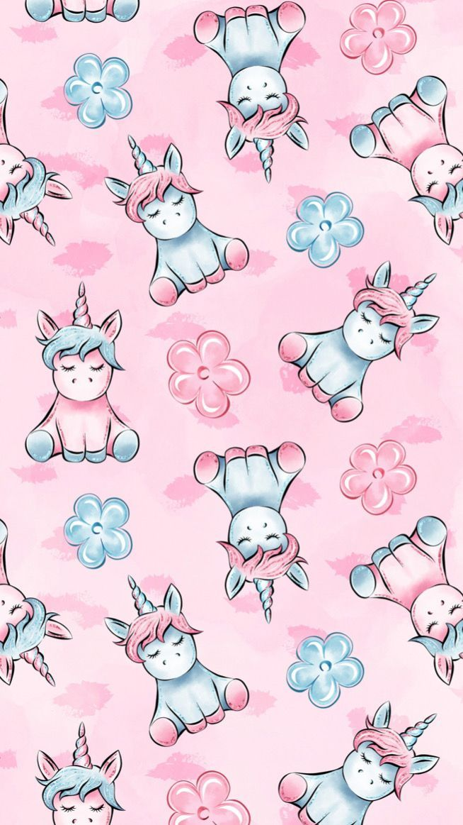 unicorns pink girly cute wallpapers iphone