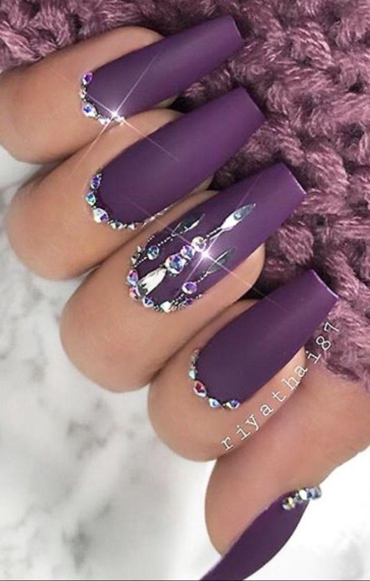 30 Cute Purple Nail Ideas To Imitate In 2021 1
